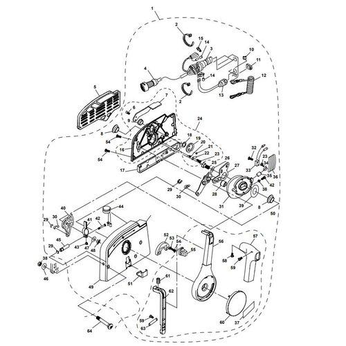 Parsun Buitenboordmotor F20A (F15A) BM (FW) Control Box Assy onderdelen