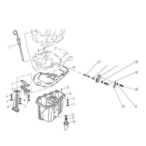 Parsun Buitenboordmotor F20 & F25 Oil Pan onderdelen