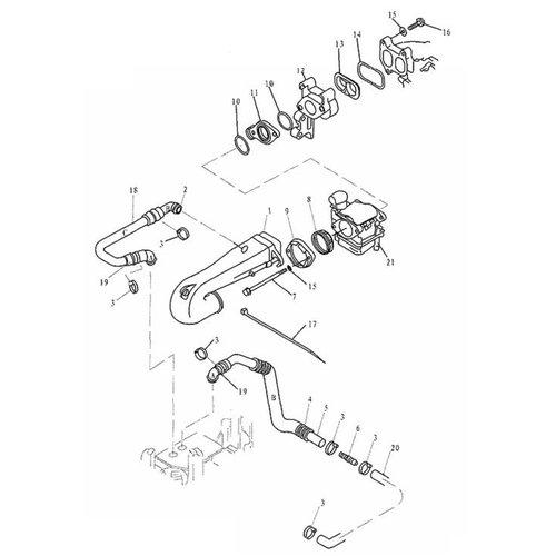 Parsun Buitenboordmotor F20 & F25 Intake onderdelen