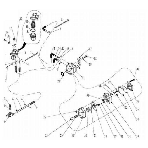 Parsun Buitenboordmotor F20 & F25 Fuel 1 onderdelen