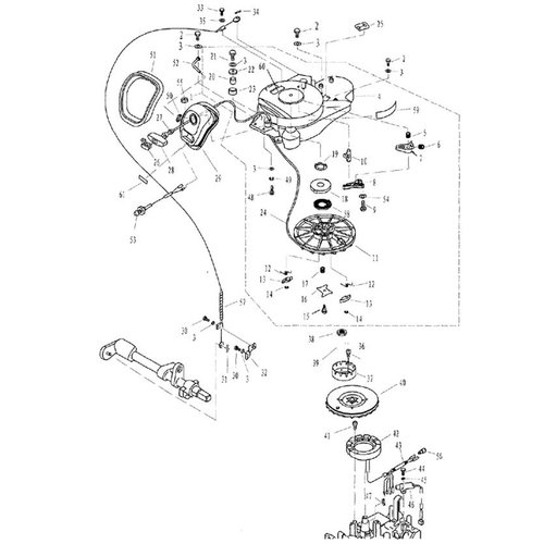 Parsun Buitenboordmotor F20 & F25 Starter Assy onderdelen
