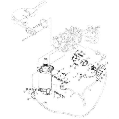 Parsun Buitenboordmotor F20 & F25 Electrical (2) onderdelen