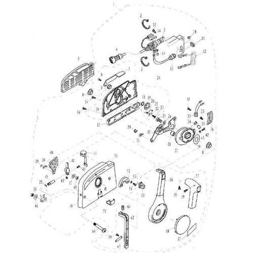 Parsun Buitenboordmotor F20 & F25 Electric Start Control Box Assy onderdelen