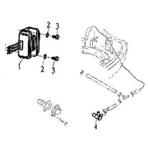 Parsun Buitenboordmotor F20 & F25 Electric Start Rectifier onderdelen