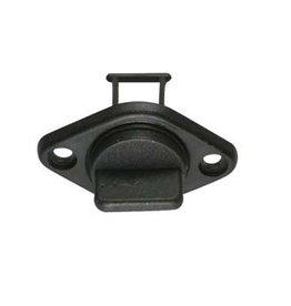 Drain plug with socket wit/zwart