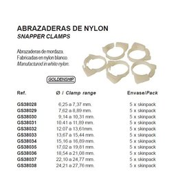 Golden Ship SNAPPER CLAMPS cable clamp per 5 pieces