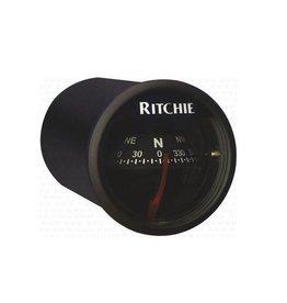 Kompas voor motorboten tot 16 Feet zwart / wit (Ritchie X-21)