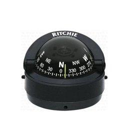 Kompas voor motorboten tot 24 feet zwart / wit (Ritchie S-53)