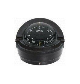 Kompas voor motorboten tot 30 feet zwart / wit (Ritchie F-87)
