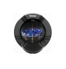 Ritchie Kompas voor zeil- en motorboten tot 10,5 meter, zwart (Ritchie SR-2)