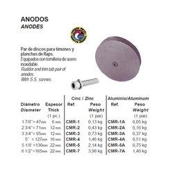 Zink/aluminium anode