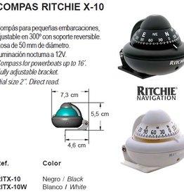 Kompas voor motorboten tot 16 Feet zwart/wit