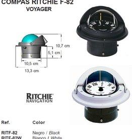 Kompas voor zeil-motorboten tot 30 feet zwart/wit