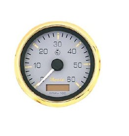 Faria Tachometer + hour counter inboard / diesel