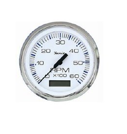 Faria Tachometer + hour meter inboard / outboard and diesel