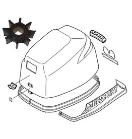Mercury 8 en 9,9 pk 4-takt (209cc) (bigfoot) Onderhoud kit