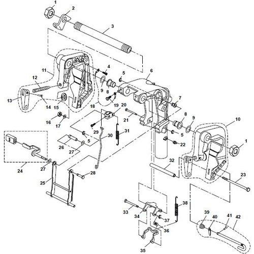 Yamaha/Parsun Buitenboordmotor F20A (F15A) BM (FW) Bracket 1 onderdelen