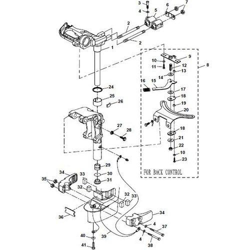 Yamaha/Parsun Buitenboordmotor F15A (F20A) BM (FW) Bracket 2 onderdelen