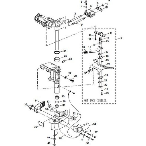 Yamaha / Parsun Outboard Engine F20A (F15A) BM (FW) Bracket 2 Parts