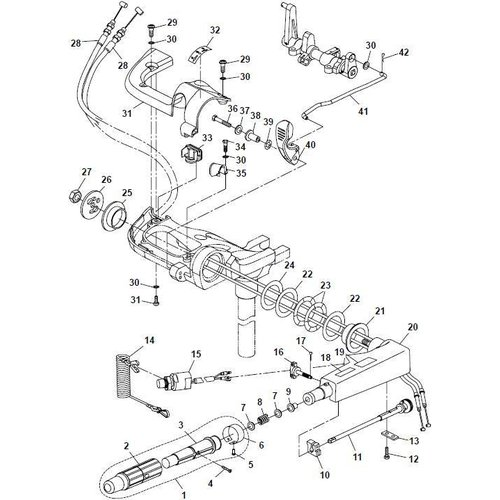 Yamaha/Parsun Buitenboordmotor F15A (F20A) BM (FW) Steering onderdelen