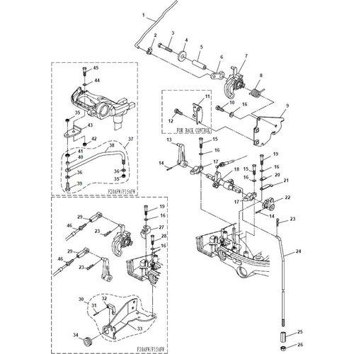Yamaha/Parsun Buitenboordmotor F15A (F20A) BM (FW) Control System onderdelen