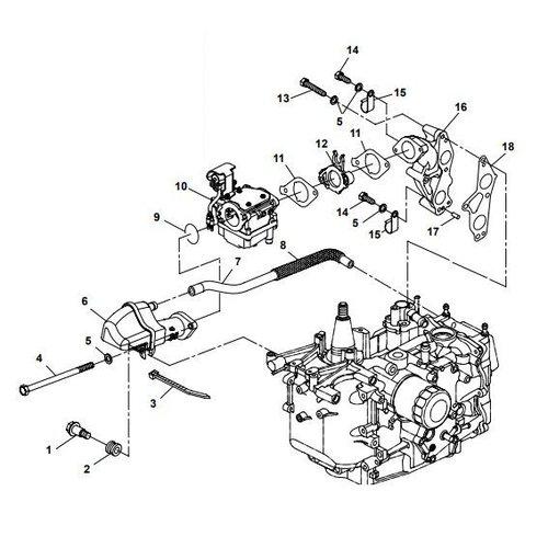 Yamaha/Parsun Buitenboordmotor F15A (F20A) BM (FW) Intake onderdelen