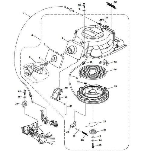 Yahama/Parsun Buitenboordmotor F15A (F20A) BM (FW) Starter Assy onderdelen