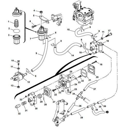 Yamaha/Parsun Buitenboordmotor F15A (F20A) BM (FW) Fuel System onderdelen