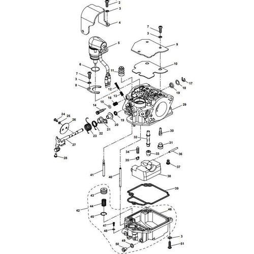 Yamaha/Parsun Buitenboordmotor F15A (F20A) BM (FW) Carburetor Assy onderdelen
