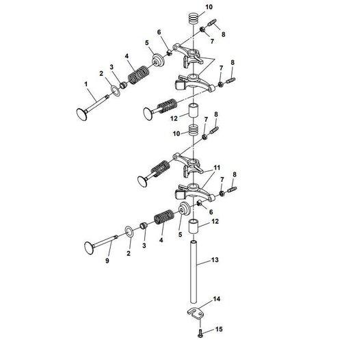 Yamaha / Parsun Outboard Engine F20A (F15A) BM (FW) Valve Parts