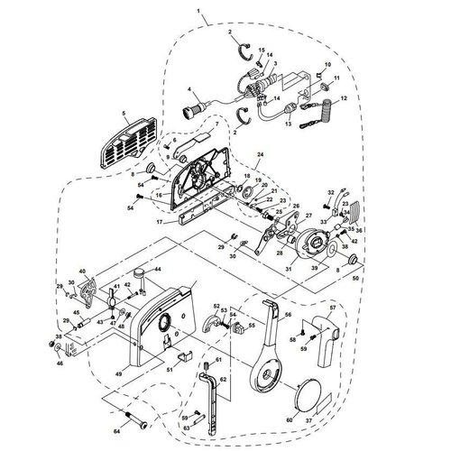 Yamaha/Parsun Buitenboordmotor F15A (F20A) BM (FW) Control Box Assy onderdelen