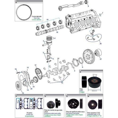 General Motors Block Engine 262 CID, V6, 4.3L Parts
