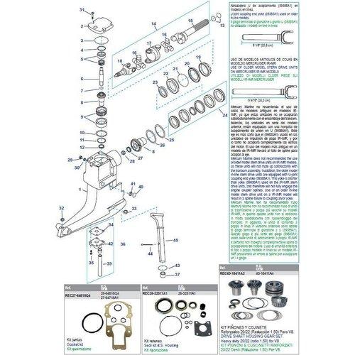 MerCruiser Drive Shaft Housing Components R/MR/Alpha One (Serie: #6225577-OD469858)