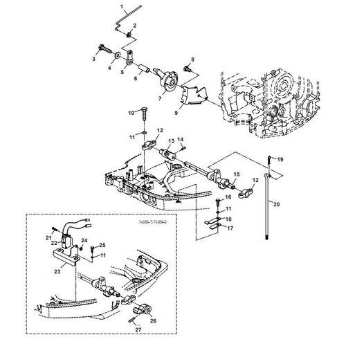 Parsun Buitenboordmotor F40 Control System 1 Onderdelen.