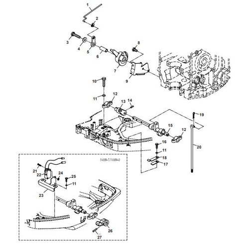 Parsun Outboard Engine F40 Control System 1 Parts