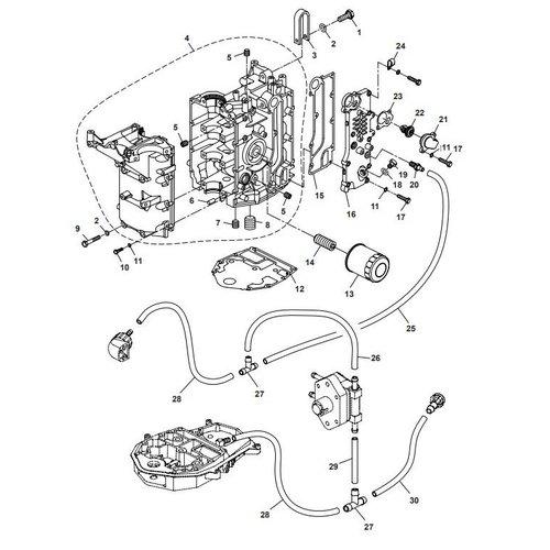 Parsun Buitenboordmotor F40 Crankcase Onderdelen