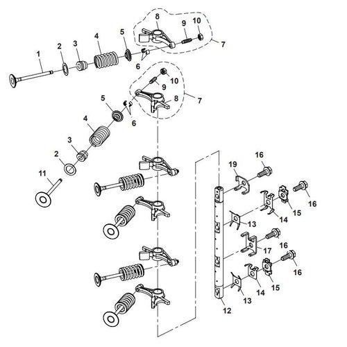 Parsun Buitenboordmotor F40 Valve Onderdelen