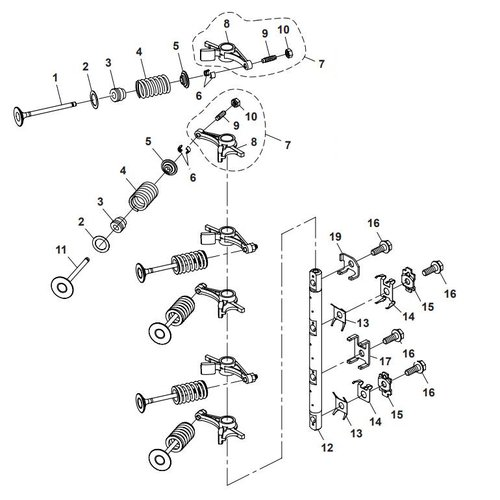 Parsun Outboard Engine F40 Valve Parts