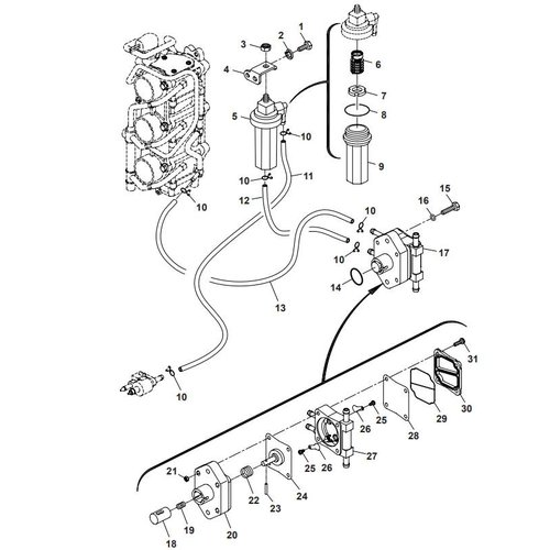 Parsun Outboard Engine F40 Fuel System Parts