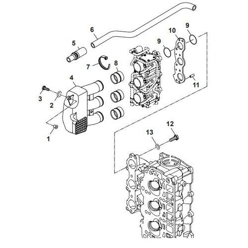 Parsun Buitenboordmotor F40 Intake Onderdelen