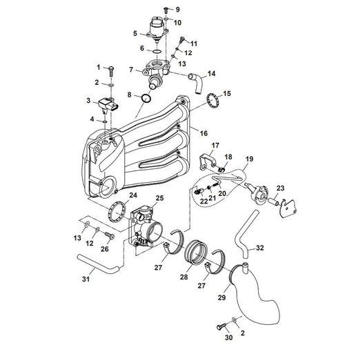 Parsun Buitenboordmotor F40 Intake 2 Onderdelen