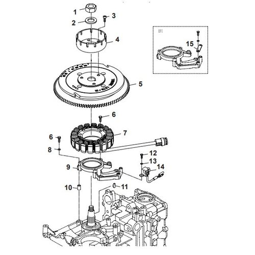 Parsun Buitenboordmotor F40 Electrical 1  Onderdelen
