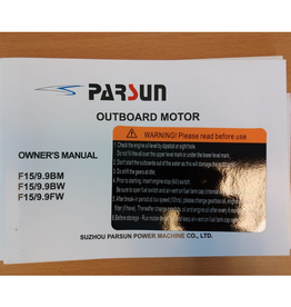 Yamaha/ Parsun Outboard F9,9/F15 99-07 Owner's manual