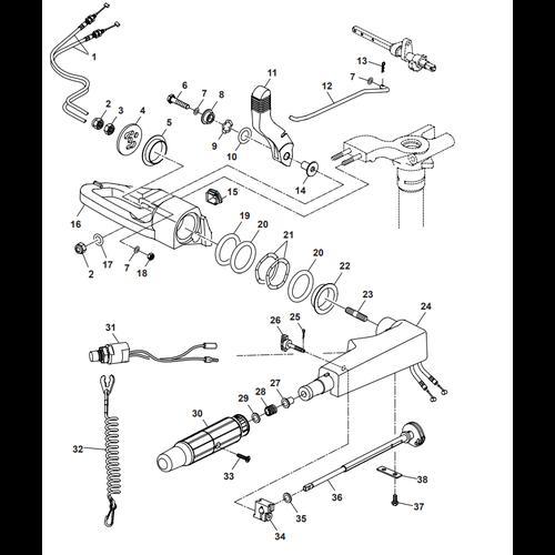 Parsun Buitenboordmotor F40  Steering Onderdelen