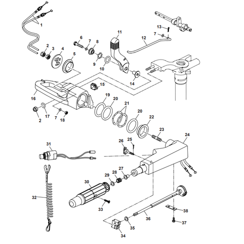 Parsun Outboard Engine F40 Steering Parts