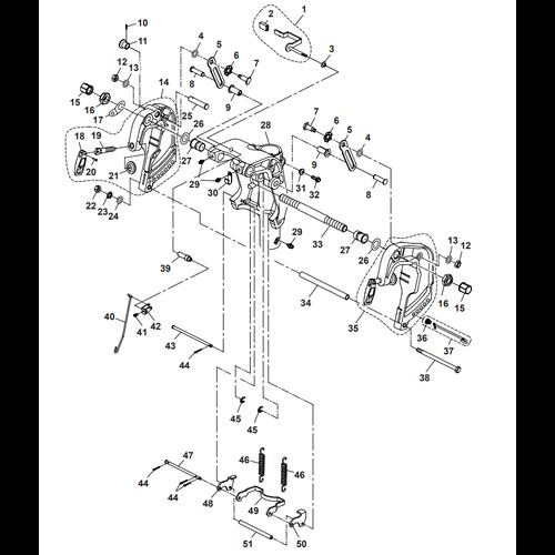 Parsun Buitenboordmotor F40 Bracket 1 Onderdelen