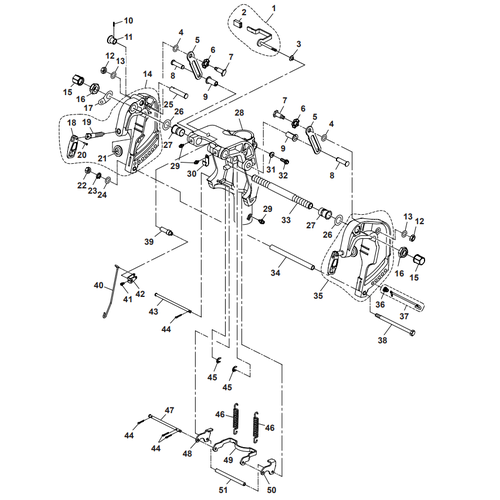 Parsun Outboard Engine F40 Bracket 1 Parts