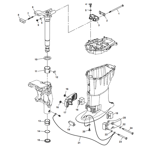 Parsun Buitenboordmotor F40 Bracket 2 Onderdelen