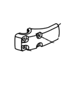 RecMar Parsun F40 SHELL, MOUNT DAMPER (LEFT) (PAF25-00000015)