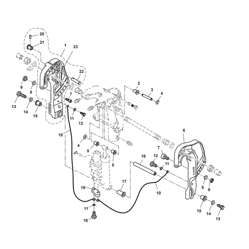 Parsun Outboard Engine F40 Bracket 3 Parts